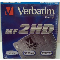 CAJA 10 DISKS VERBATIN MF-2HD(1.44 MB)