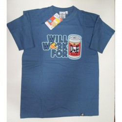 CAMISETA THE SIMPSONS WILL WORK FOR DUFF TALLA XS