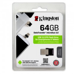 PENDRIVE-MEMORIA EXTRAIBLE 64GB KINGSTON  microDuo 3.0 DataTraveler