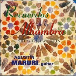 CD RECUERDOS DE LA ALHAMBRA-SOLO GUITAR FAVOURITES- AGUSTIN MARURI