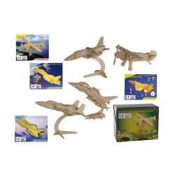Puzzle 3D de madera natura, Avión