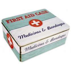 LATA METAL -MEDICINES & BANDEGES- FIRST AID CASE