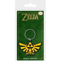 Legend of Zelda Llavero caucho Triforce 6 cm