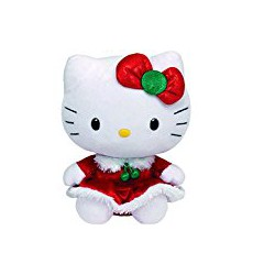 Hello Kitty Peluche con vestido color rojo