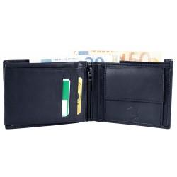 Billetera hombre cuero Formato 12 x 10 cm.
