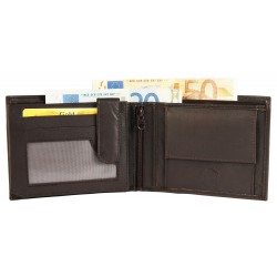 Billetera hombre de cuero Formato 12 x 10 cm.