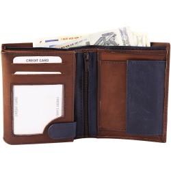 Billetera de cuero 10 x 12 cm.