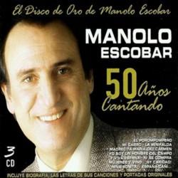 CD MANOLO ESCOBAR -50 AÑOS CANTANDO- 3CD