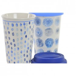 Mug porcelana 9,5x9,5x14 400ml. Dots- surtida.