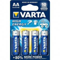 4 Pilas Alcalinas Lr06 AA 1,5V High Energy Varta