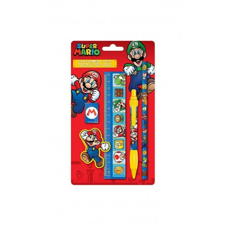 Set-Papeleria Super Mario 5-Piece Stationery