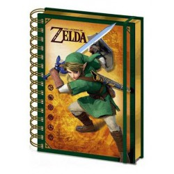 LIBRETA 3D -THE LEGEND OF ZELDA- A5 WIRO 3D LINK