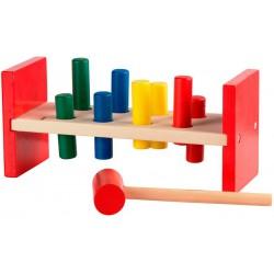 Banco de martillo de marioneta de juguetes de madera
