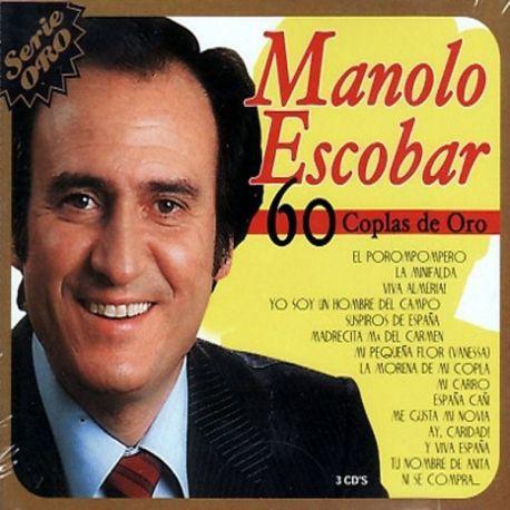 CD MANOLO ESCOBAR -60 Coplas de Oro- 3CD