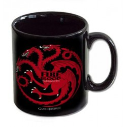 FIRE AND BLOOD TARGARYEN TAZA CERAMICA GAME OF THRONES