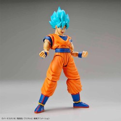 SON GOKU SUPER SAIYAN GOD BLUE MODEL KIT FIGURA 14 CM DRAGON BALL Z FIGURE-RISE STANDARD