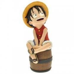 Hucha One Piece Luffy Sentado en Barril (20cm)