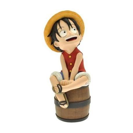 Hucha One Piece Luffy Sentado en Barril (20cm)