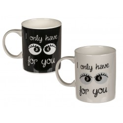 Taza de cerámica Solo tengo ojos para ti (precio por unidad)