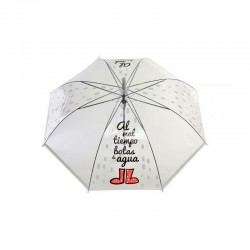 Paraguas cúpula -niño-, 80 cm Botas-frases