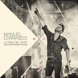 LP Doble Vinilo Manuel Carrasco -Firmado-+La cruz del mapa .- Directo Estadio Metropolitano Madrid Ed Deluxe - 2 LP + cd