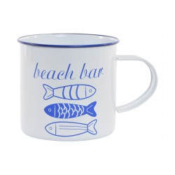 VASO-TAZA EN METAL -BEACH BAR-
