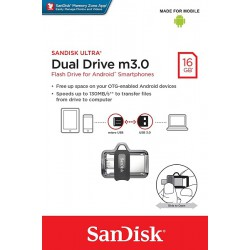 Memoria USB de 16 GB, Color Gris- PNY Duo-Link OU3