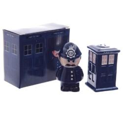 Set de Salero y Pimentero de Ceramica - Policia de Londres