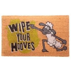 """Felpudo de Fibra de Coco - Oveja Shaun """"Wipe Your Hooves"""""""