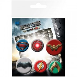Pack de 6 Chapas Justice League Movie Mix