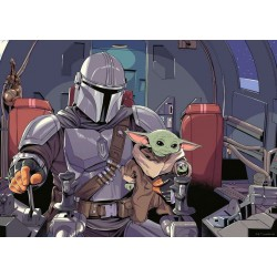 Star Wars The Mandalorian Puzzle Cartoon (1000 piezas)