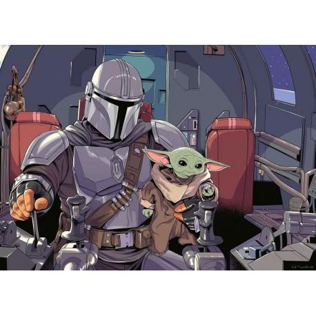 Star Wars The Mandalorian Puzzle Cartoon (1000 piezas)