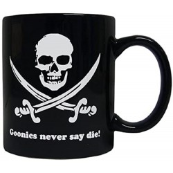 NEVER SAY DIE TAZA CERAMICA THE GOONIES