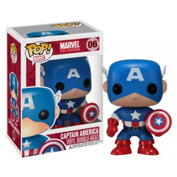 Funko pop, Marvel Comics POP! Vinyl Cabezón Captain America 10 cm