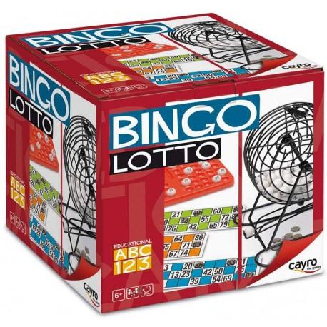 Cayro - Bingo Lotto - Juego Tradicional - Bingo con Bombo - Lotería - Juego de Mesa