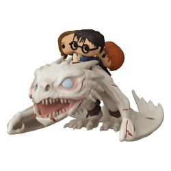 Funko pop Harry Potter POP! Rides Vinyl Figura Dragon w/Harry, Ron, & Hermione 15 cm