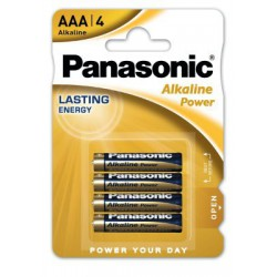 PILAS PANASONIC AAA (PACK DE 4) ALKALINAS