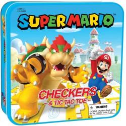 Juego -en caja de metal- Super Mario Checkers & Tic-TAC-Toe Collector's Game Set