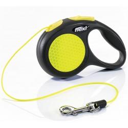 Trixie -Flexi - Correa new classic neon reflect XS cordon 3 m 8kg