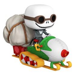 Pesadilla antes de Navidad POP! Rides Vinyl Figura Jack w/Goggles & Snowmobile 18 cm