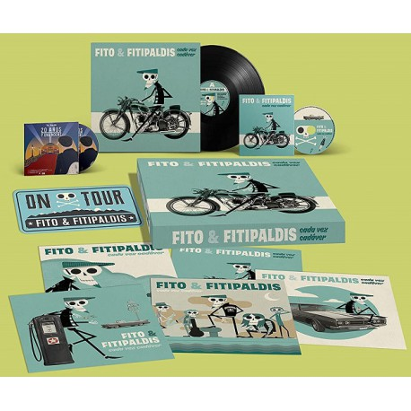Fito y Fitipaldis -Box Set Cada vez cadáver - Vinilo + CD + DVD - Disco Firmado