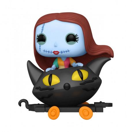 Pesadilla antes de Navidad Figura POP! Disney Train Cart Vinyl Sally in Cat Cart 9 cm
